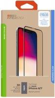 Защитное стекло с рамкой 3D InterStep Full Cover iPhone 8/7, белая рамка (IS-TG-IPHO83DWH-UA3B202)