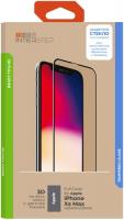 Защитное стекло с рамкой 3D InterStep Full Cover iPhone Xs Max, черная рамка (IS-TG-IPHOXSM3B-UA3B202) фото