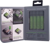 Зарядное устройство GP Charge AnyWay (GPX411270AAHCE-2CRB4)