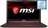 "Игровой ноутбук MSI GL63 8SE-421RU (Intel Core i7-8750H 2.2Ghz/15.6""/1920х1080/16GB/1TB HDD + 128GB SSD/NVIDIA GeForce RTX2060/DVD нет/Wi-Fi/Bluetooth/Win 10)"
