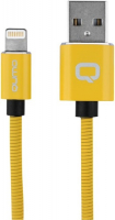 Кабель Qumo MFI С48 USB-Apple 8 pin, 1,2 м Yellow (30014) qumo lightning usb mfi rose gold кабель 1 м
