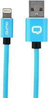 Кабель Qumo MFI С48 USB-Apple 8 pin, 1,2 м Blue (30023) qumo lightning usb mfi rose gold кабель 1 м
