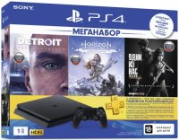 Игровая приставка Sony PlayStation 4 1TB Detroit + Horizon Zero Dawn + Одни из нас + PS Plus на 3 месяца (CUH-2208B)