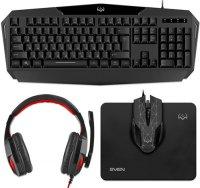 Игровой набор Sven GS-4300 клавиатура + наушники + мышь + коврик