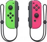 Набор контроллеров Nintendo Switch Joy-Con Pair, 2 шт, неоновый зеленый/неоновый розовый