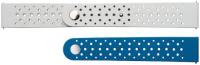 Купить Ремешок Samsung, Braloba Active Rubber для Galaxy Watch Active/Watch 42мм Blue/Gray (GP-XVR500BRBLW)