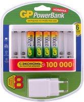 Зарядное устройство GP + USB адаптер + аккумуляторы, 4 шт (GPU811GS270AAHC-2CR4)