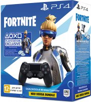 Геймпад PlayStation Dualshock v2 Black + Fortnite (CUH-ZCT2E)