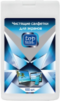 Чистящие салфетки для экранов Top House 100 шт (393309) чистящие салфетки defender eco cln 30320 для экранов 100 шт