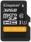 Карта памяти Kingston microSDHC 32GB Class 10 (SDC100/32GB)