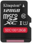 Карта памяти Kingston microSDXC 128GB Class 10 (SDC100/128GB)