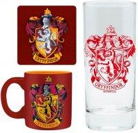 Сувенирный набор ABYstyle Harry Potter: Gryffindor бокал + подставки + кружка (ABYPCK101)