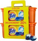Капсулы для стирки TIDE 3 in 1 Pods Color, 60 капсул