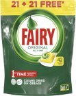 Капсулы для посудомоечной машины Fairy Original All in One Lemon, 42 капсулы
