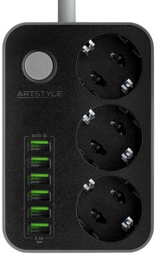 Сетевой фильтр Artstyle CL-3631B Black