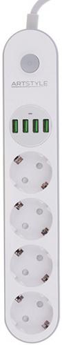 Сетевой фильтр Artstyle CL-4432W White