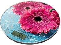 Кухонные весы Lumme LU-1341 Розовая гербера