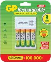 Комплект GP USB адаптер + аккумуляторы АA, 4 шт (270AAHC/CPB-2CR4)