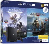 PLAYSTATION 4 PRO 1TB BLACK + HORIZON ZERO DAWN. COMPLETE EDITION + GOD OF WAR (CUH-7208B)  фото