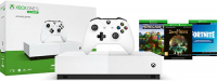 Игровая приставка Microsoft Xbox One S 1TB All Digital + Sea Of Thieves + Minecraft + Fortnite (NJP-00060)