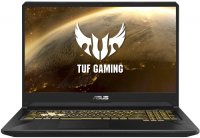 Купить Игровой ноутбук ASUS, TUF Gaming FX705DT-AU101T (AMD Ryzen 5 3550H 2.1GHz/17.3 /1920х1080/16GB/1TB+256GB SSD/NVIDIA GeForce GTX 1650/DVD нет/Wi-Fi/Bluetooth/Win10)