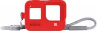 Купить Чехол для экшн-камер GoPro, Sleeve + Lanyard для Hero 8 Red (AJSST-008)