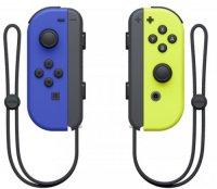 Набор контроллеров Nintendo Joy-Con, 2 шт синий/неоновый желтый (HAC-A-JAQAA)