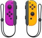 Набор контроллеров Nintendo Joy-Con, 2 шт неоновый фиолетовый/оранжевый (HAC-A-JAPAA)
