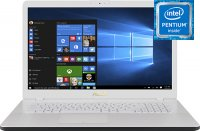 "Ноутбук ASUS ViVoBook 17 X705UB-GC315T (Intel Pentium 4417U 2.3GHz/17.3""/1920х1080/4GB/256GB SSD/nVidia GeForce MX110/DVD нет/Wi-Fi/Bluetooth/Win 10)"