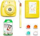 Фотоаппарат моментальной печати Fujifilm Instax Mini 9 Yellow (Blue Smile Set)