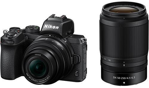 Системный фотоаппарат Nikon Z 50 + Nikkor Z DX 16-50mm VR + 50-250 VR