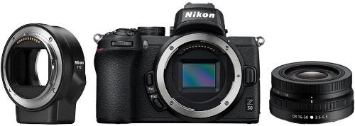 Системный фотоаппарат Nikon Z 50 + Nikkor Z DX 16-50mm VR + FTZ