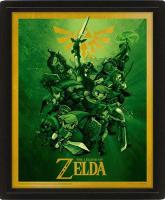 3D-постер Pyramid The Legend Of Zelda: Link (EPPL71137) link zelda legend of zelda figura respiro della natura selvaggia di collegamento 32 cm action figures modello pvc rinquedo