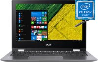 Ноутбук-трансформер Acer SP111-34N-C9ET (NX.H67ER.004) (Intel Celeron N4000 1.1GHz/11.6''/1920x1080/4GB/64GB eMMC/Intel UHD Graphics 600/DVD нет/Wi-Fi/Bluetooth/Win10)