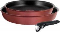 Набор посуды Tefal L6598672 Ingenio Cheff Red, 3 предмета