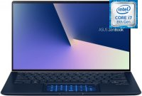 "Ультрабук ASUS ZenBook 14 UX433FA-A5309T (Intel Core i7-8565U 1800Mhz/14""/1920х1080/8GB/256GB SSD/DVD нет/Intel UHD Graphics 620/Wi-Fi/Bluetooth/Win 10)"