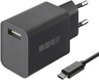 Сетевое зарядное устройство InterStep New RT: 1xUSB 2A, microUSB, 1 м, Black (IS-TC-MC1UBK12W-000B210)