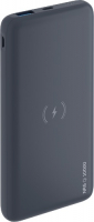 Внешний аккумулятор Deppa NRG Qi 10000 mAh Graphite (33552) фото