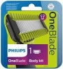 Сменное лезвие Philips OneBlade QP610/50 для лица с насадкой-гребнем для тела