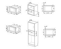 Встраиваемая микроволновая печь Smeg FMI120B1