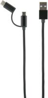 Кабель Red Line LX01 2 в 1 USB-micro/USB + Type-C 2A Black (УТ000014183) jinga jincabmcusb12bl black кабель usb micro usb 1 2 м