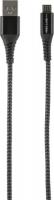 Кабель Red Line Razor USB/micro USB, Black/Grey (УТ000015532) jinga jincabmcusb12bl black кабель usb micro usb 1 2 м