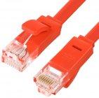 Патч-корд GCR UTP категории 6, RJ45, плоский, 0.25 м Red (GCR-LNC624-0.25m)