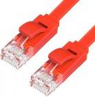 Патч-корд GCR UTP категории 6, RJ45, плоский, 10 м Red (GCR-LNC624-10.0m)