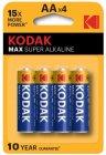 Батарейки Kodak Max Super Alkaline AA (LR6), 4 шт (30952867)