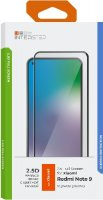 Защитное стекло с рамкой 2.5D InterStep для Xiaomi Redmi Note 9 Black (IS-TG-XIA0RENO9-02AFB0-ELGD00)
