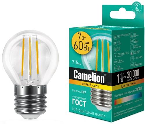 Светодиодная лампа Camelion LED7-G45-FL/830/E27