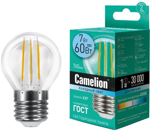 Светодиодная лампа Camelion LED7-G45-FL/845/E27