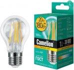 Светодиодная лампа Camelion LED20-A60-FL/830/E27