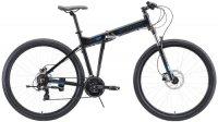 """Горный велосипед Stark Cobra 29.2 HD 18""""/2020, черный/голубой (H000016454)"""